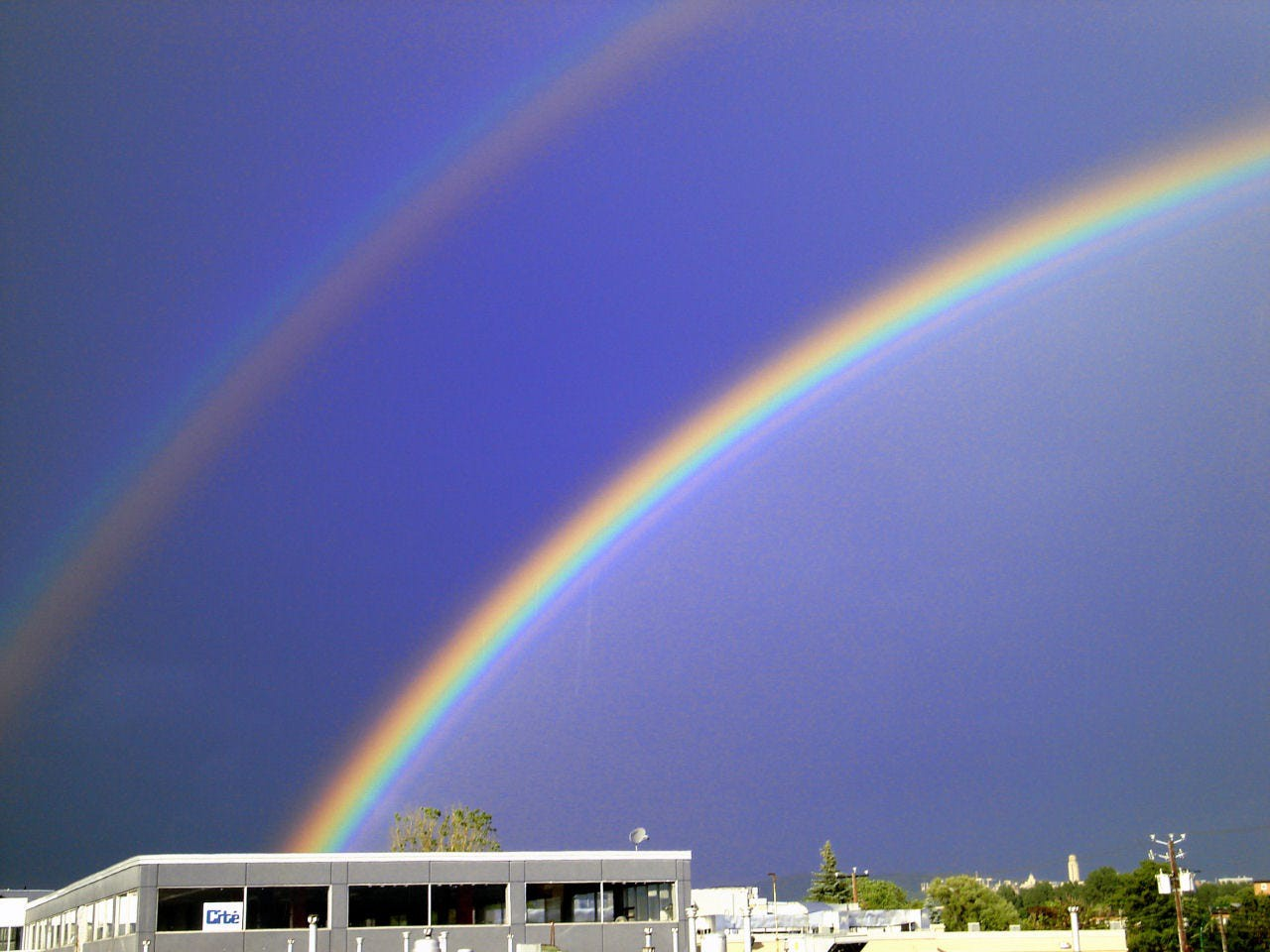 Double rainbow all the way! This viral video stole the attention of millions as man basks in the amazement of two rainbows