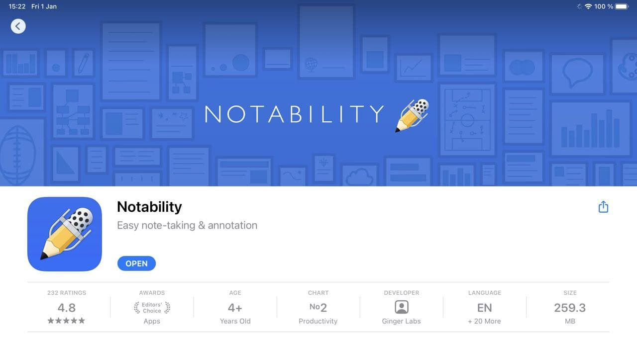 Notability the best anotation app for ipad pro