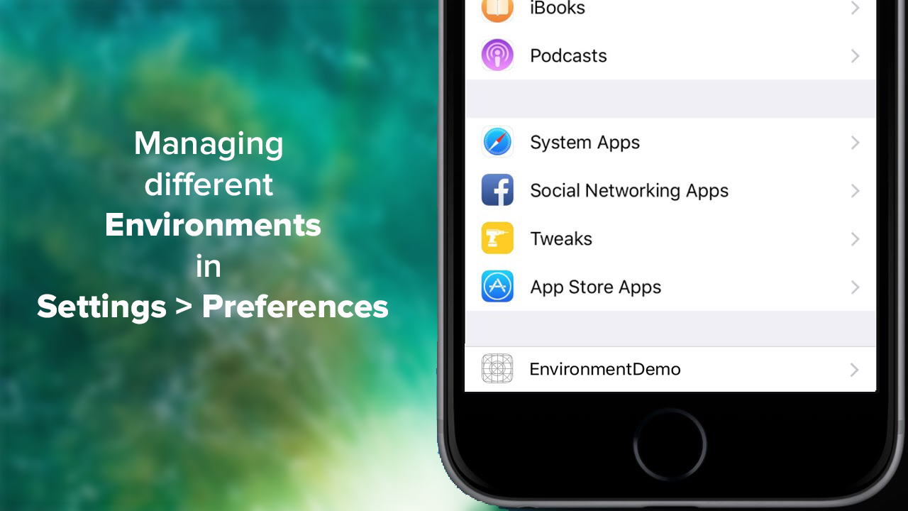 Managing different server environment/configuration in preferences of iOS application