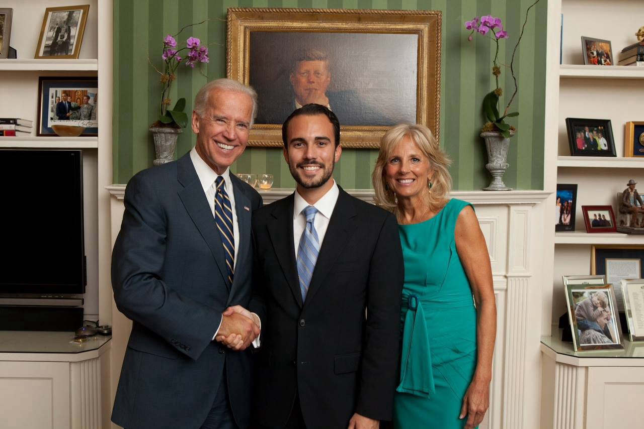 Vice President Biden, Dr. Jill Biden and I at the Naval Observatory in DC (Sept. 2011)