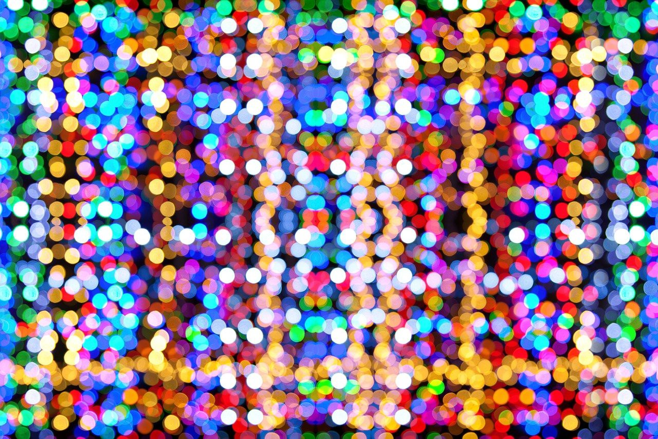 Colourful bokeh—a myriad if blurry and colourful dots, almost like data. If only we knew what they represented!