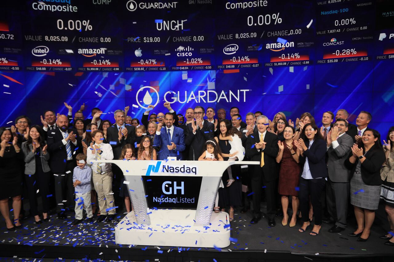 When was the guardant health ipo