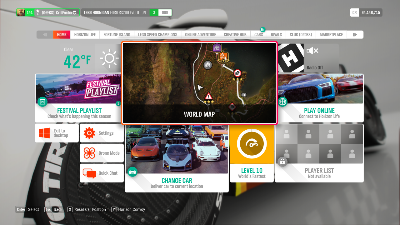 The Completionist Life: Forza Horizon 4 (Part II — The Menus)