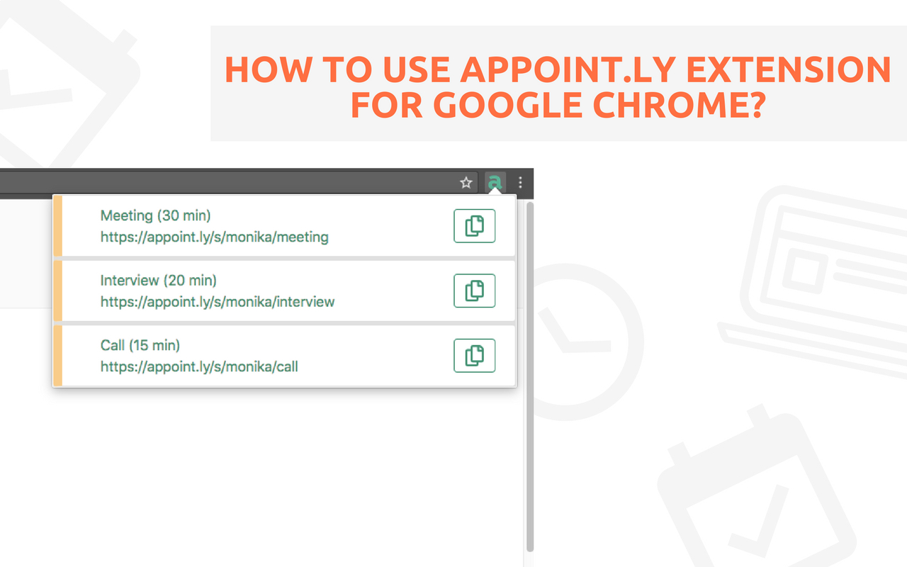 How to use Appoint ly extension for Google Chrome? - Appoint