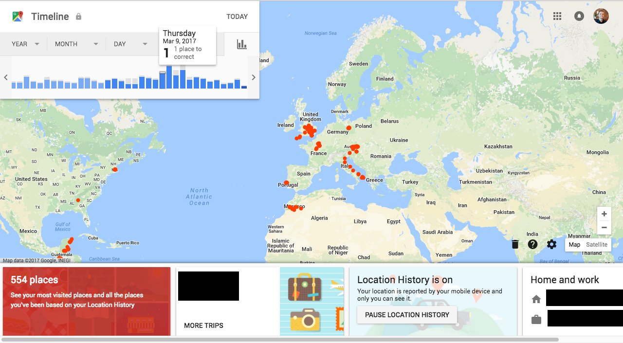 Create a Heat Map from your Google Location History in 3