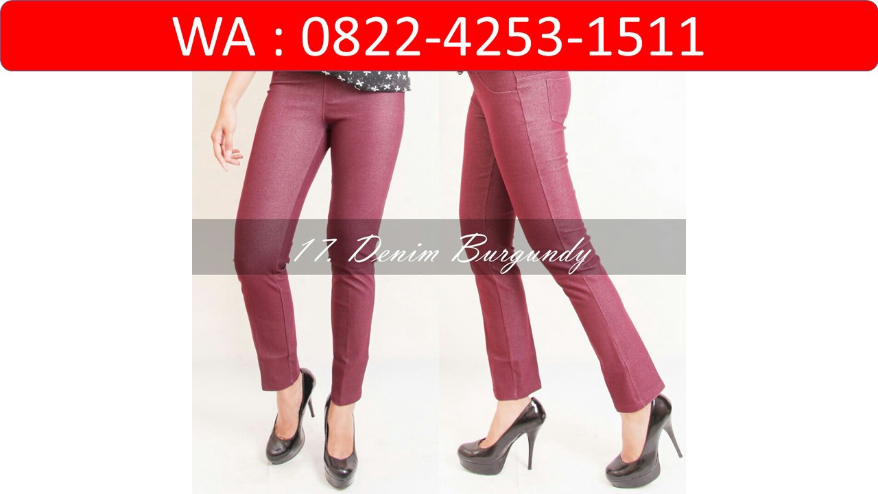 Wa 0822 4253 1511 Ditributor Termurah Legging Streach Big Size By Distributor Celana Denim Medium