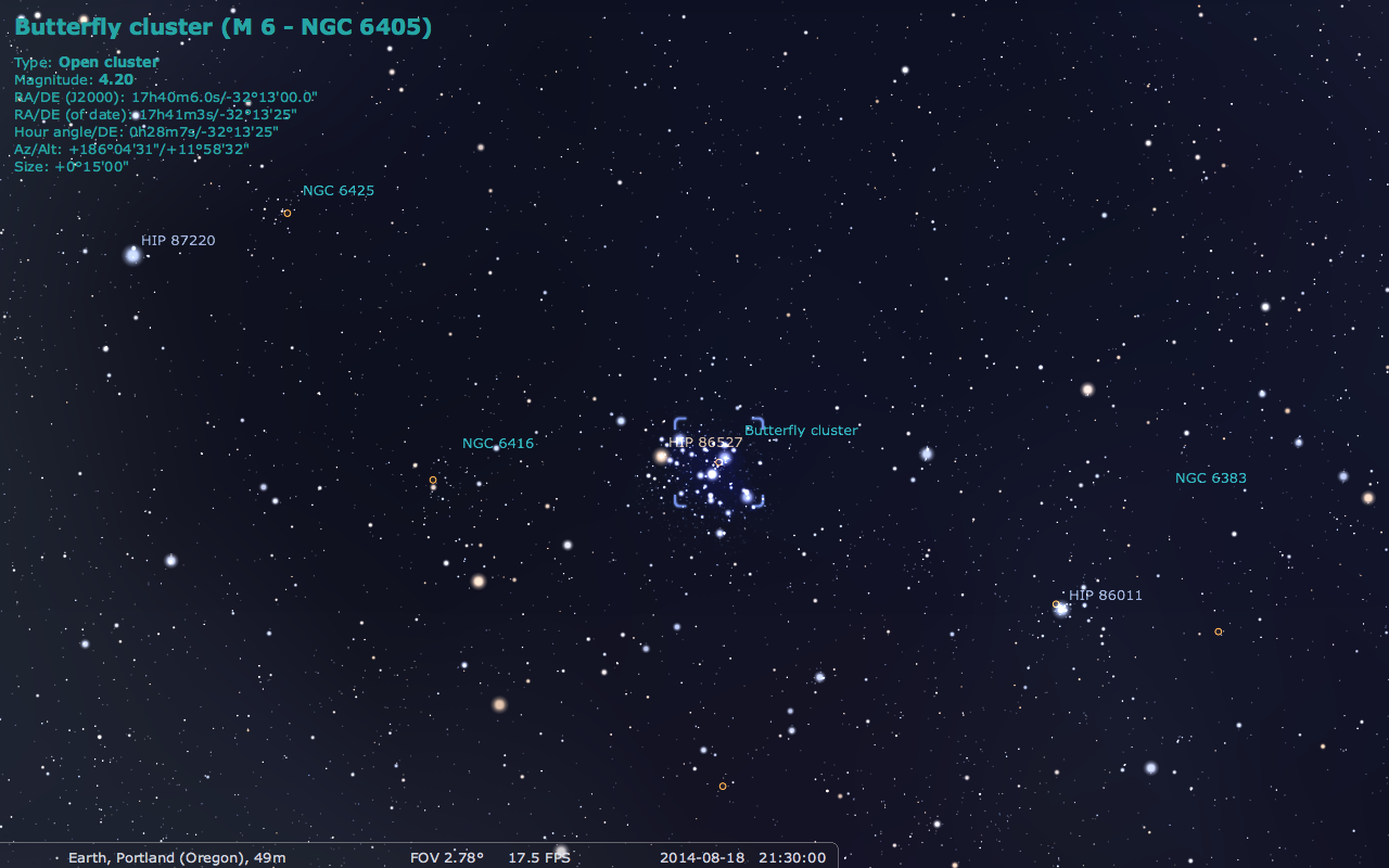 Messier Monday: The Butterfly Cluster, M6 - Starts With A