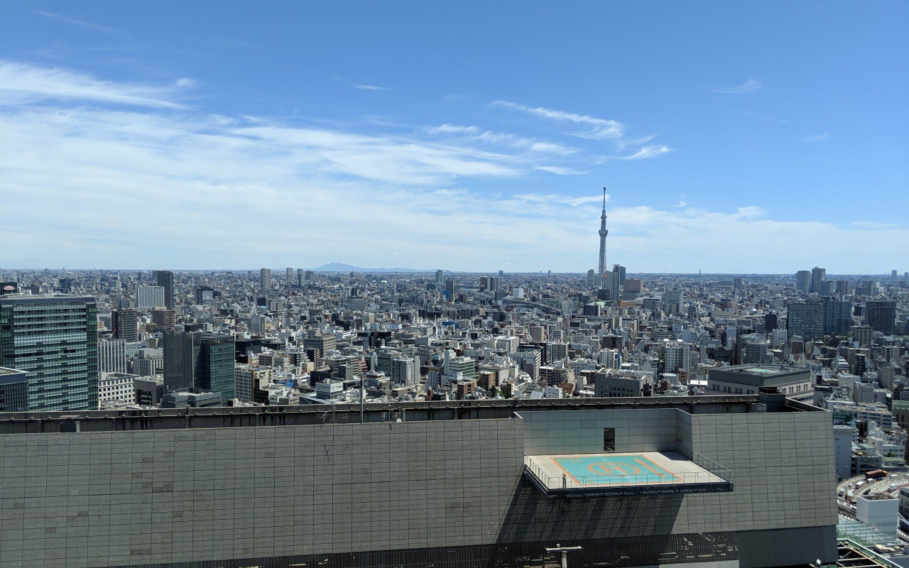 The Tokyo skyline, as seen from Nihombashi