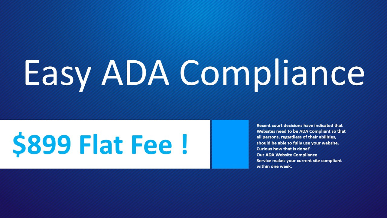 Check if your website is ADA compliant https://easy-compliance.com/index.html#form2-d