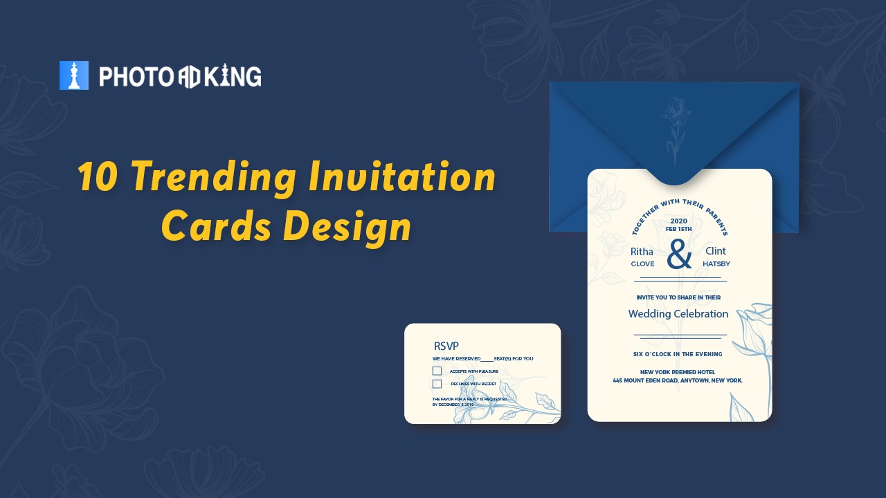 10 Trending Invitation Cards Design Color Combos To Go Ooh