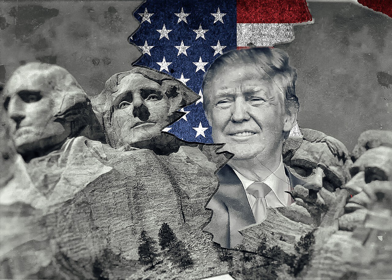 Trump bursts into Mount Rushmore National Memorial