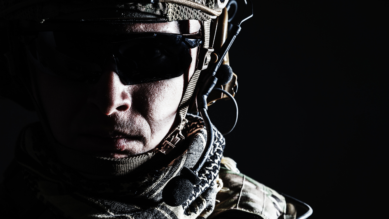 Close up of solider's face for What My Special Forces Father Taught Me About Never Giving Up