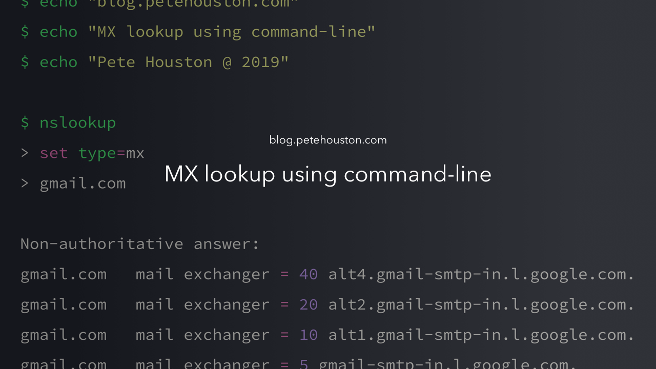 MX Lookup using command-line - Pete Houston - Medium