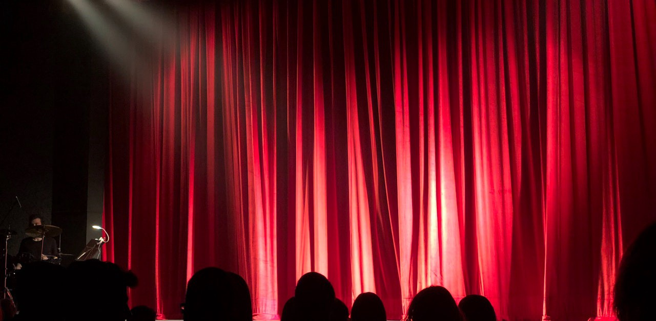 closed curtain on a stage