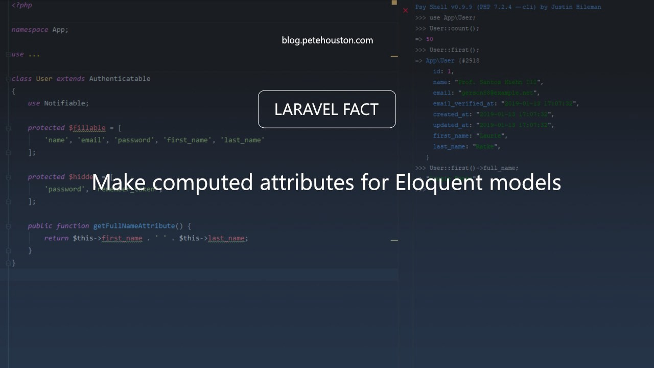 Laravel Fact — Make computed attributes for Eloquent models