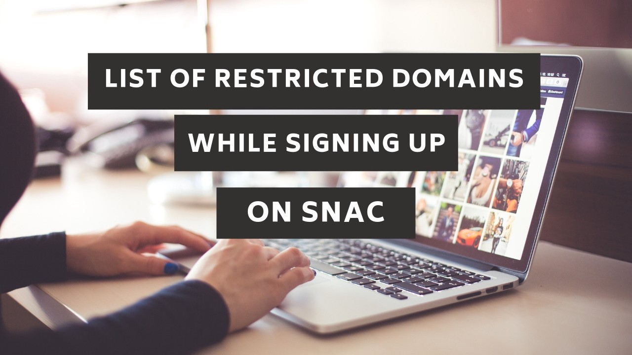 List Of Restricted Domains & Email Service Providers While