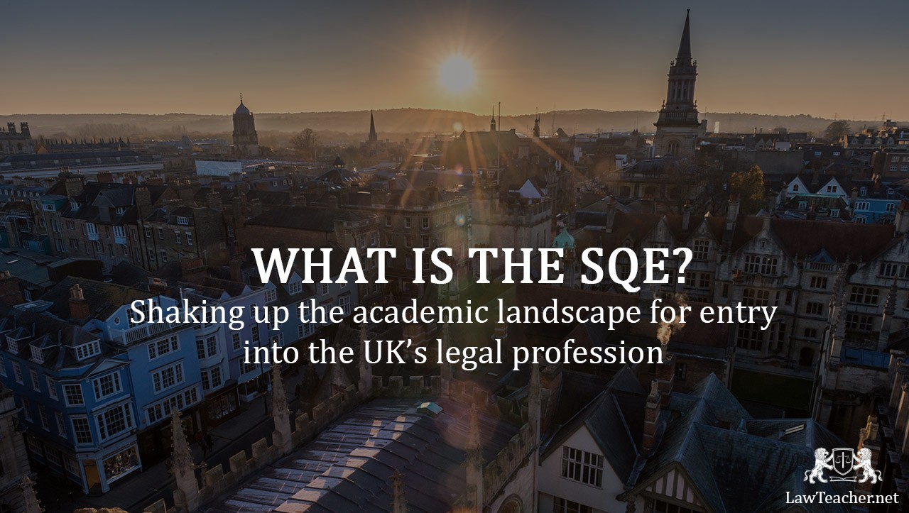 What is the SQE? Text on top of image of Oxford city.
