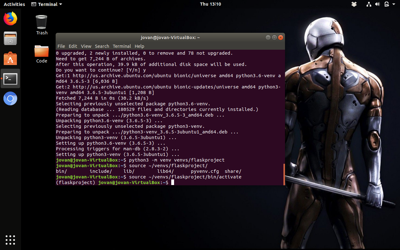 Configuring Ubuntu 18 04 for a Python Dev Environment with