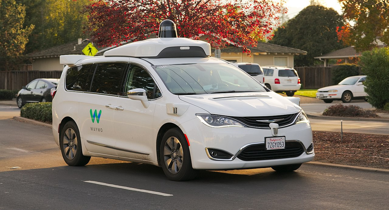 Waymo's device mounted on a Pacifica car