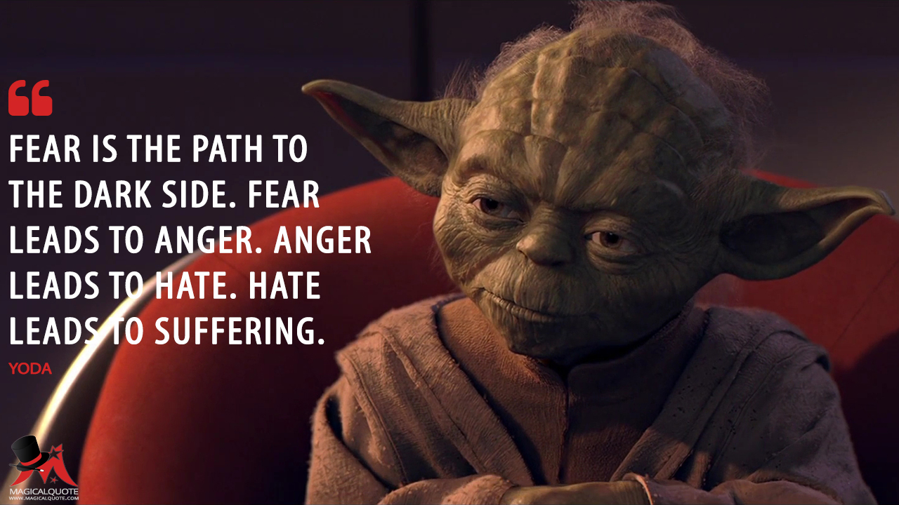 Image result for fear leads to anger