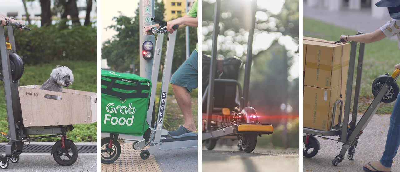 cargo e-scooter, MIMO C1, used to fulfil a diverse range of needs
