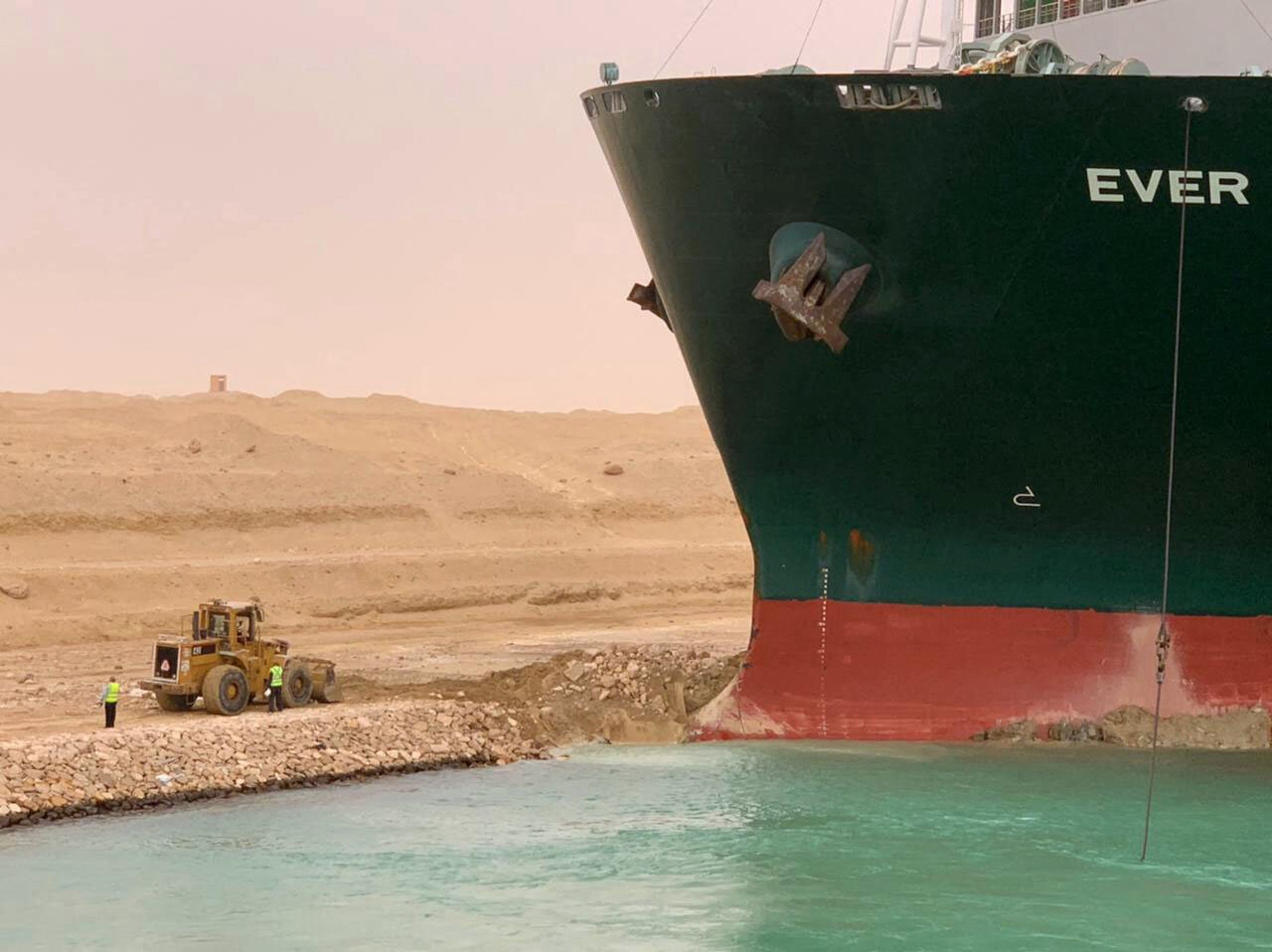 container ship stuck in Suez Canal