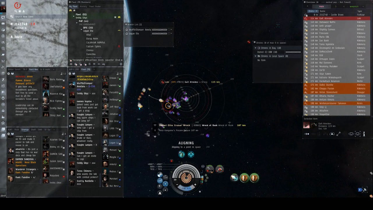 Nullsec invades WH space, and uses NPSI to do it: The fall