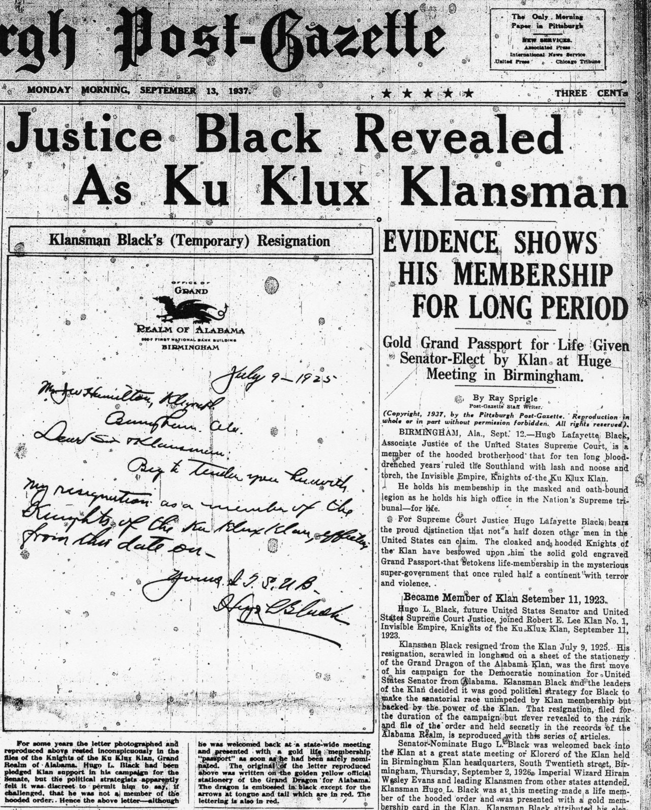 A U.S. Supreme Court justice was in the Ku Klux Klan—and he ...