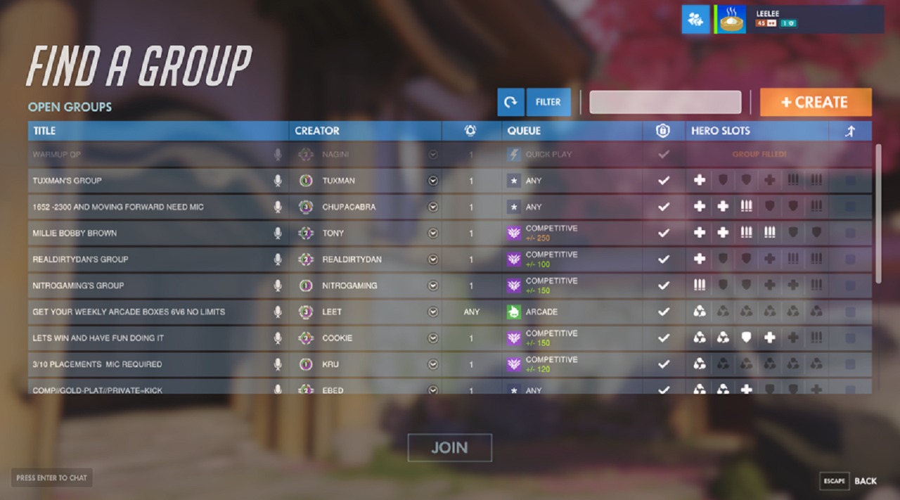 matchmaking lobby