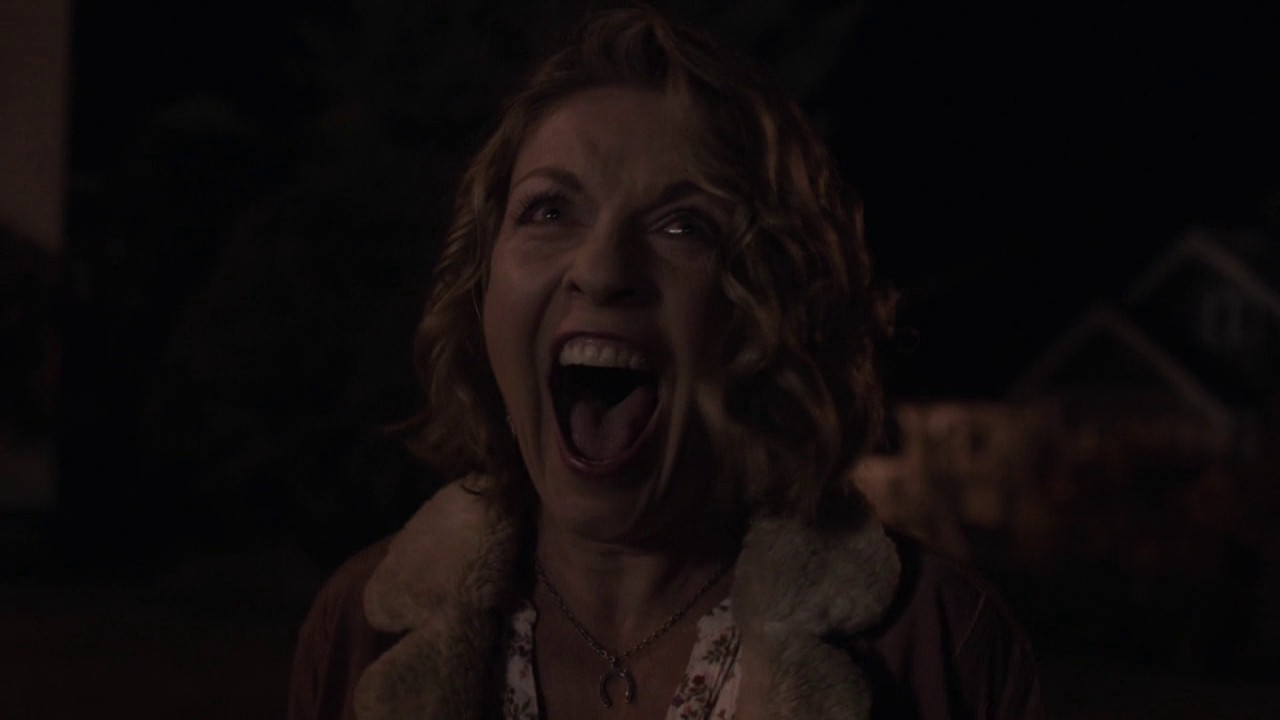 Laura Palmer's doppelganger screams at the end of Twin Peaks: The Return.