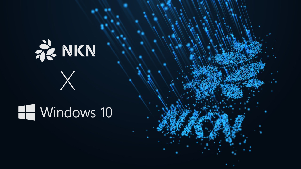 How to set up a NKN Miner on Windows 10 and run it as an