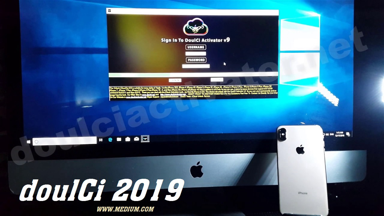 Crack doulCi 2019 Disable iCloud Lock Activation Codes