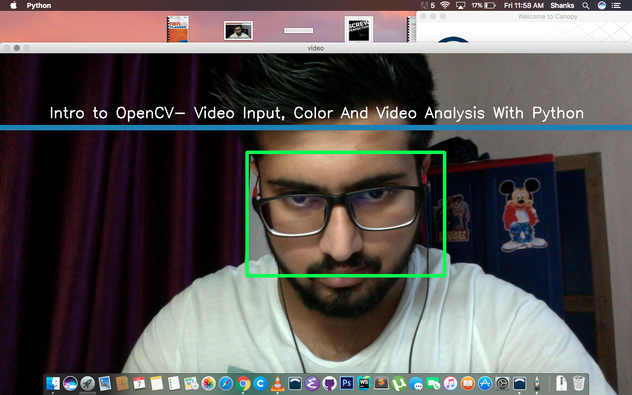 Intro to OpenCV- Video Input, Color And Video Analysis With