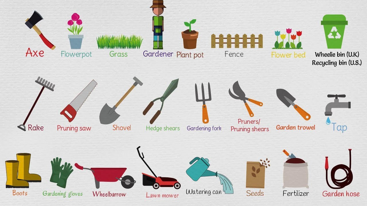 8 Basic Tools In The Garden Each