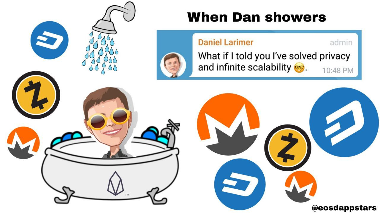 What S The Eos Privacy Shower Coin That Dan Larimer Is Discussing By Stellabelle Genereos Medium