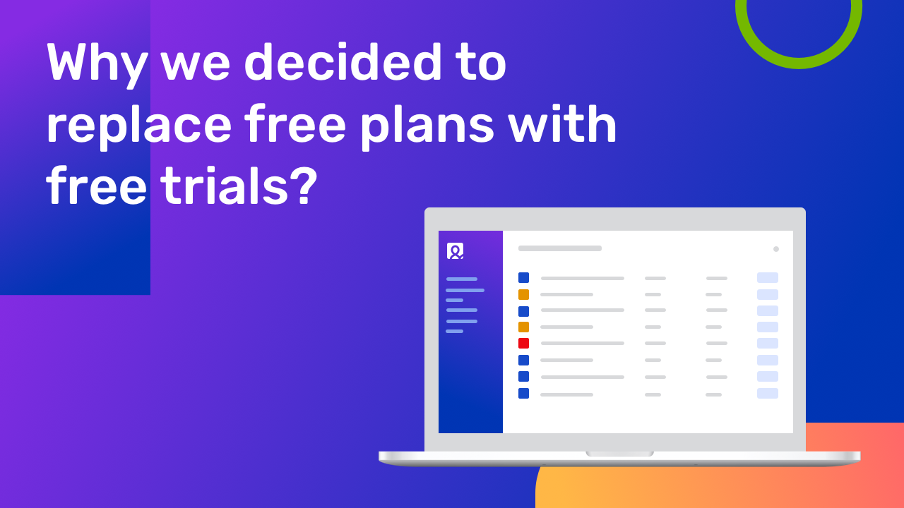 Why we decided to replace free plans with free trials