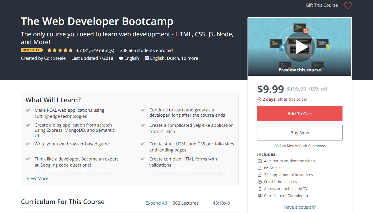 5 Best Udemy Courses For Learning Web Development By Forrest Knight Medium
