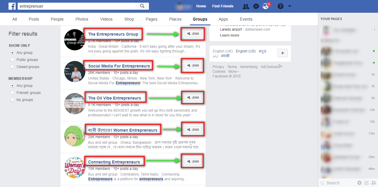 FB Hack] Post in Multiple Facebook Groups in one click