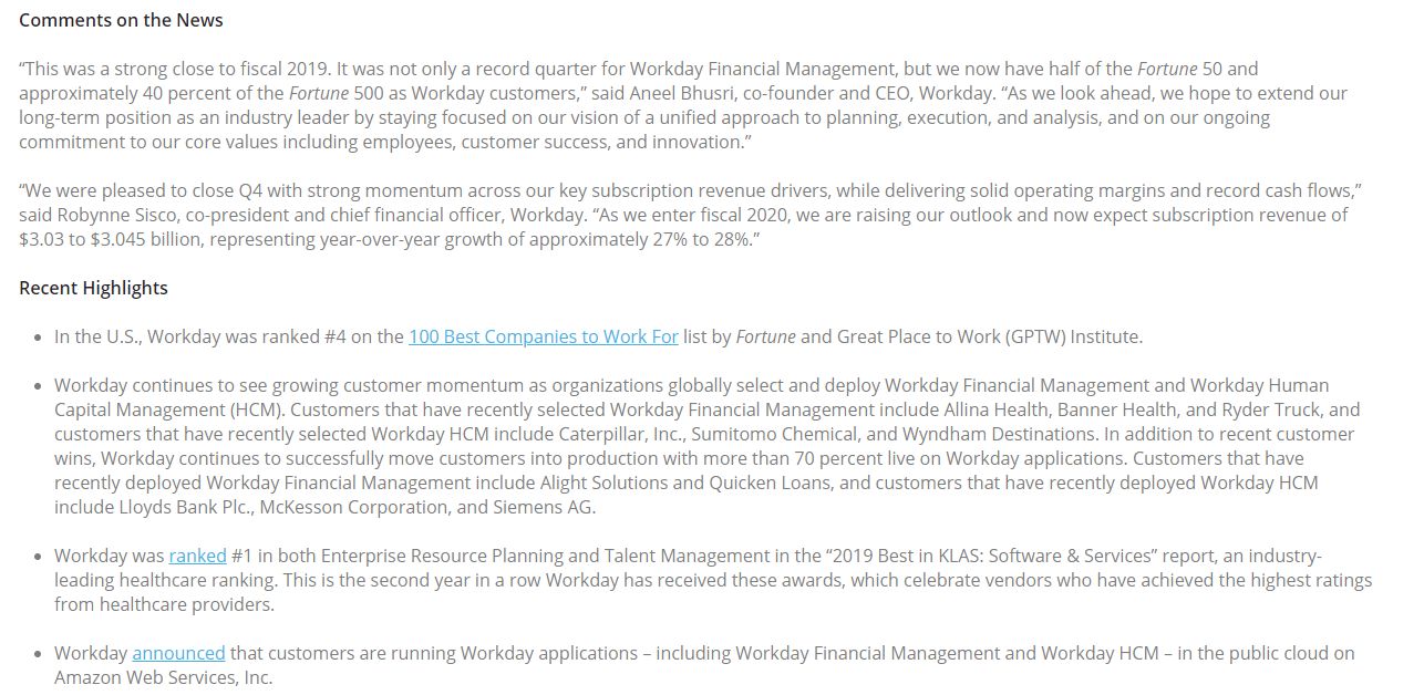 Workday — Trip to 10B Annual Revenues— 10X opportunity