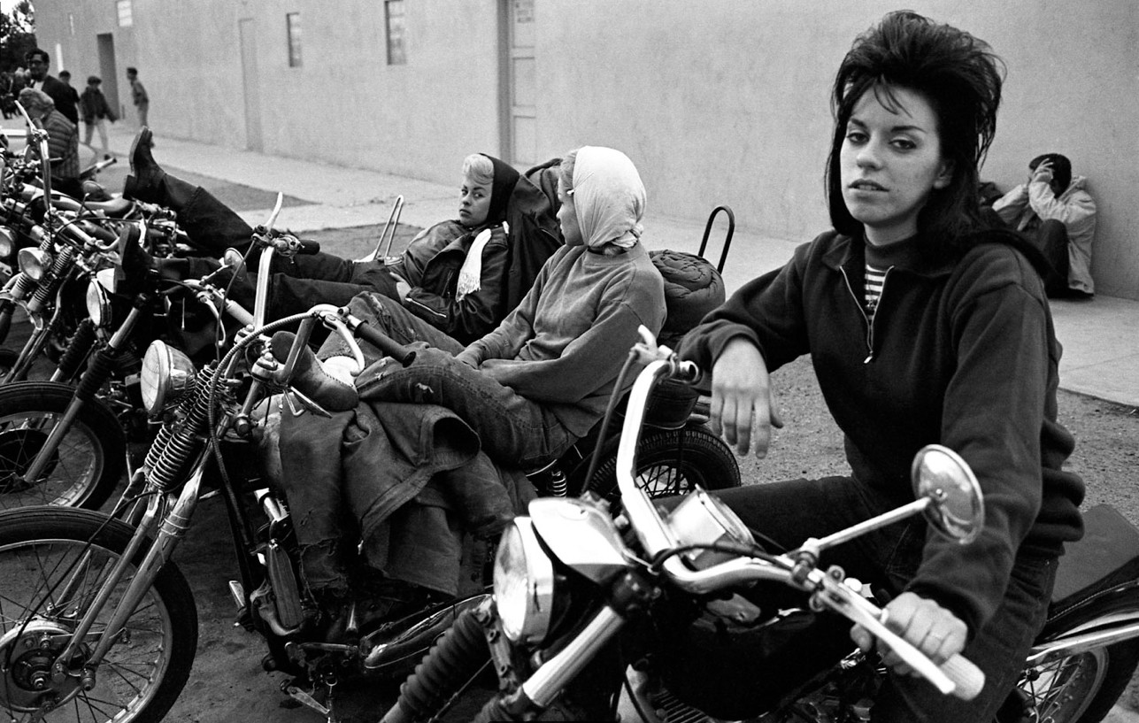 The women of the Hell's Angels were bad, brassy, bombshell