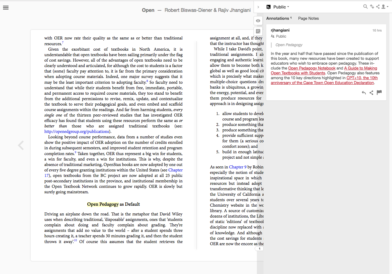 Ubiquity platform now supports EPUB annotations via Hypothes is
