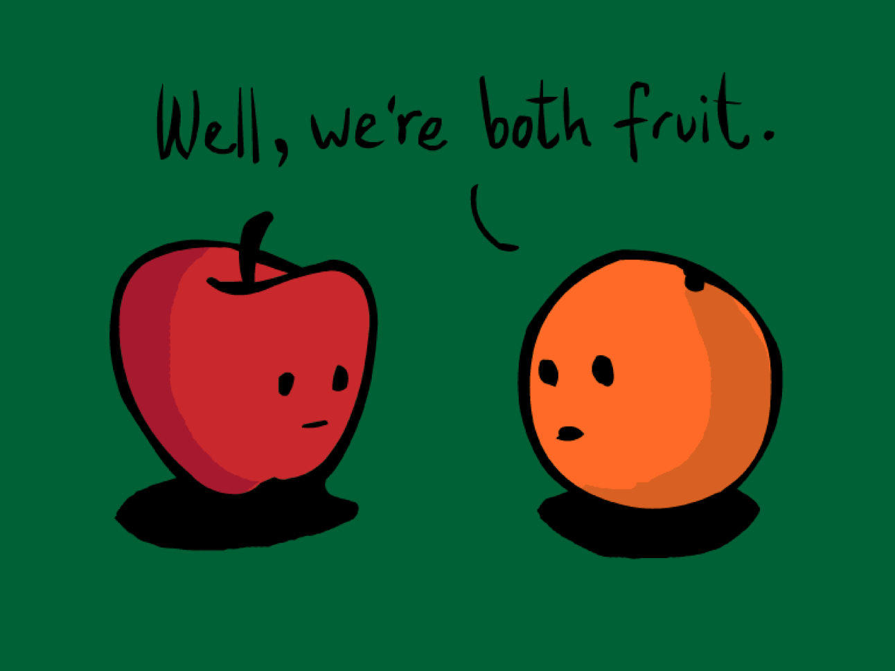 On the importance of comparing apple to apples   by Adam J. Grushan   Medium
