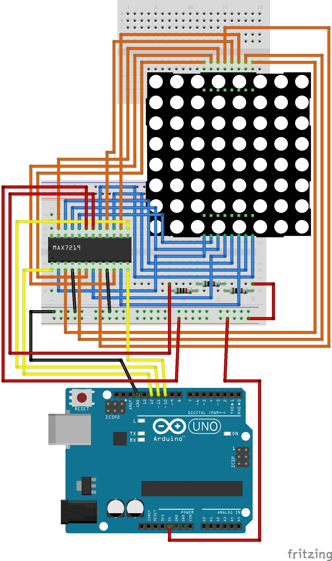 Arduino: Led Matrix 8×8, Max7219 and Arduino Uno R3