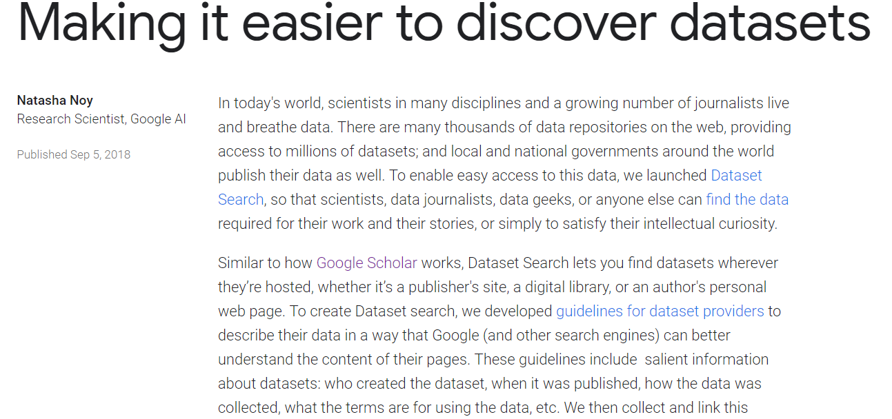 Google Dataset Search Engine: Find Any Data You Want