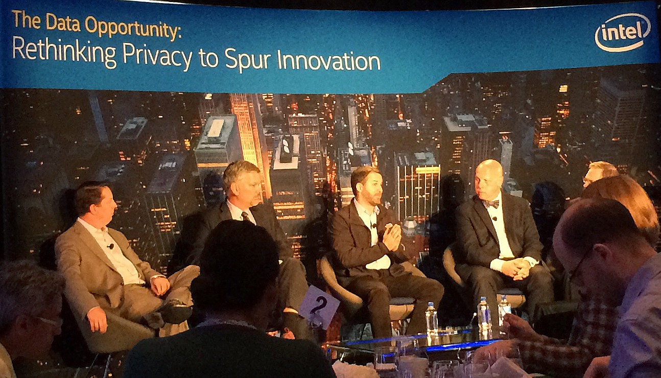 Shane Green speaking at Intel privacy event