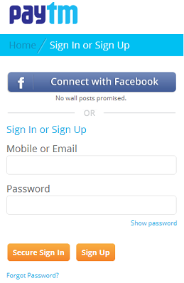 Sign in on Paytm made simpler! - Paytm Blog