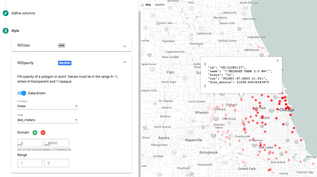 Using BigQuery's new geospatial functions to interpolate