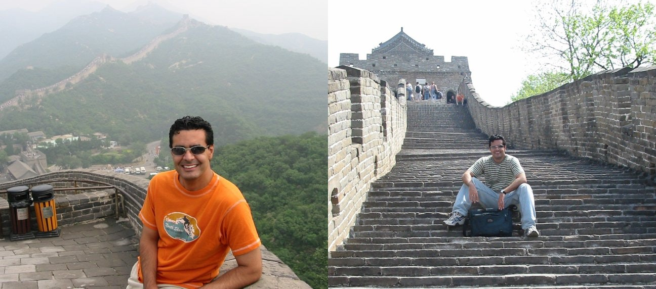Mark Birch storming the Great Wall of China