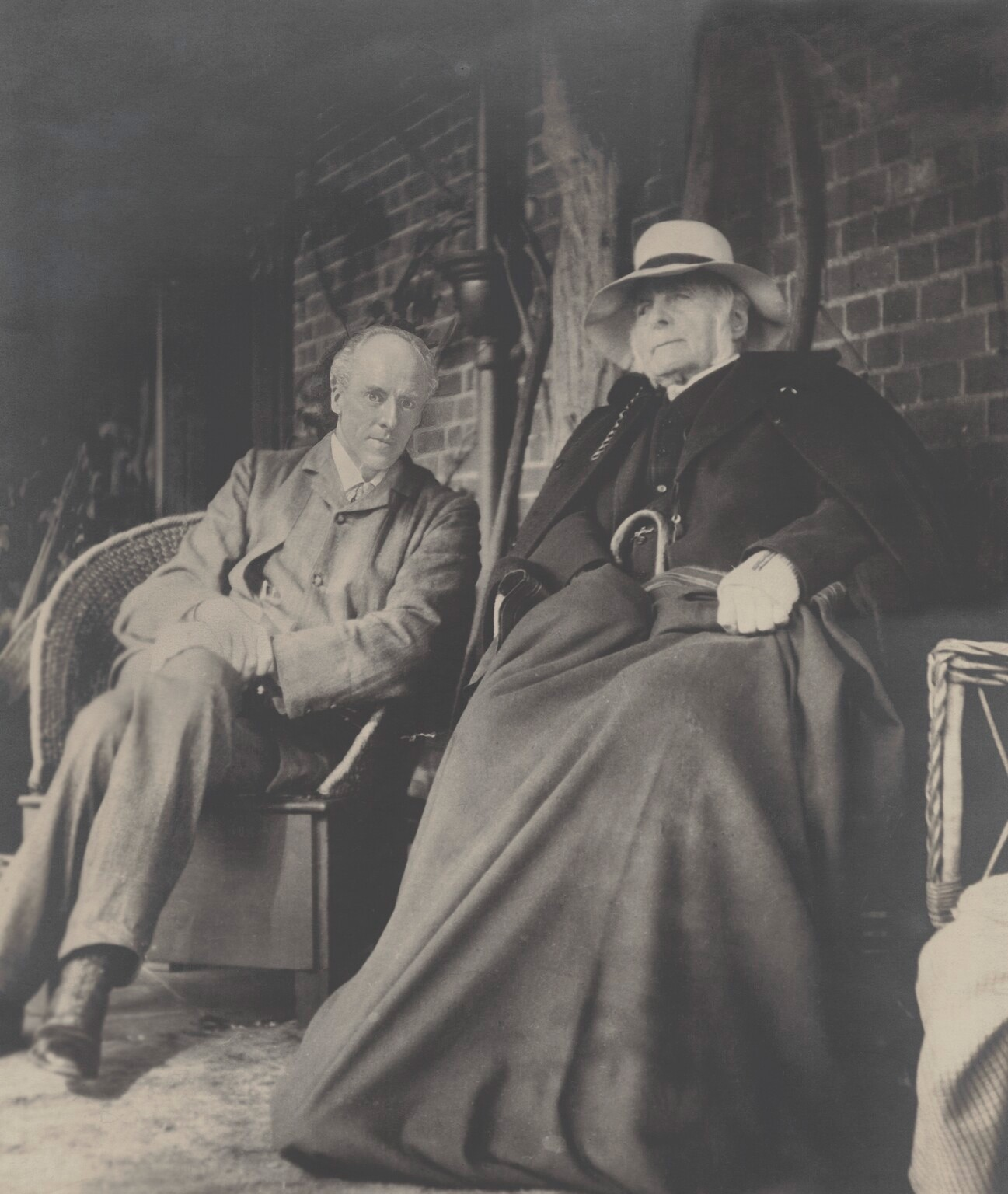 Picture of Karl Pearson and Francis Galton