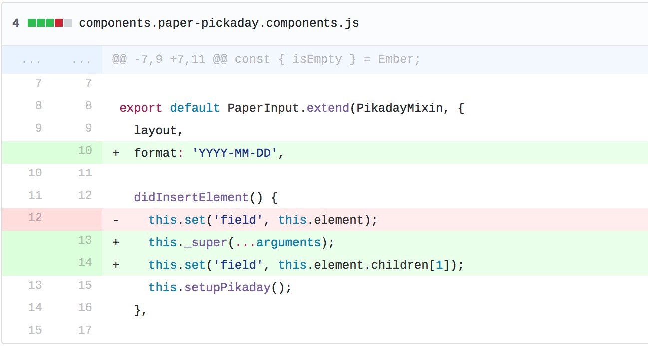 A component in 7 lines of JavaScript — ember-paper, ember